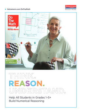 Do The Math Program Guide Cover - Think. Reason. Understand. Help all students in Grades 1-5+ build numerical reason