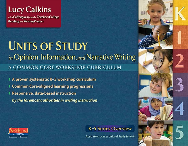 Writing Units of Study Series Overview